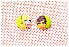 ON SALE  Vintage Retro Barbie & Ken Small Fabric by ZzzonkOwl, $6.00