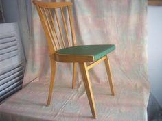 vintage st hle rockabilly stuhl mit rotem sitz retro 50er jahre ein designerst ck von. Black Bedroom Furniture Sets. Home Design Ideas