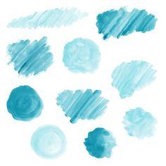 20 Blue Watercolor Splotches, Splatters and Brush Strokes; Watercolor Texture, Watercolor Design, Pintura Vector, Apple Logo Wallpaper Iphone, Airbrush Art, Dark Fantasy Art, Textured Background, Body Painting, Design Elements