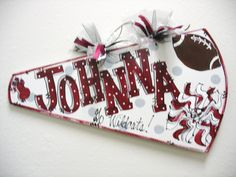 Items similar to Cheer Megaphone Personalized on Etsy Cheer Megaphone, Football Cheer, Cheer Camp, Cheer Coaches, Cheer Dance, Football Spirit, Cheer Spirit, Football Crafts, Football Signs