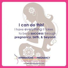 #pregnancy #affirmations www.affirmationsforpregnancy.com