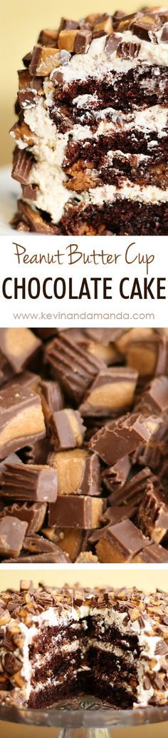 Chocolate Peanut Butter Cup Birthday Cake Recipe. The BEST way to doctor up a cake mix!