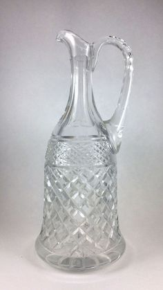 Lead Crystal Decanter made in Holland 11 inch #Unknown