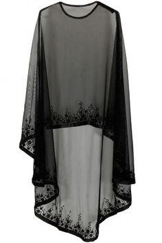 Bhaavya Bhatnagar presents Black floral beads embroidered cape available only at Pernia's Pop Up Shop. Bridal capelet Bridal cover up Lace cover up by HanakinLondon Not departs but quite close to the idea. Cape/ kind of shrug Discover thousands of images Cape Dress, New Dress, Dress Prom, Chiffon Dress, Chiffon Blouses, Abaya Fashion, Fashion Dresses, Women's Fashion, Fashion 2020