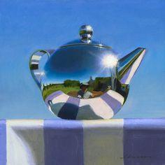 Jeffrey T. Larson Teapot in Blue oil on panel 12x12 2010