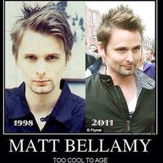 Matthew Bellamy too cool to age...