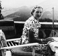 (gentleman-blackbird: Eva Braun on the Berghof...)