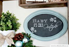 Dollar Store Tray Chalkboard (Dollar Store Decorating) - Love of Family & Home