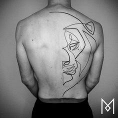 Amazing Minimalist Single Line Tattoos Art by Mo Ganji. |FunPalStudio|Illustrations, Entertainment, beautiful, Art, Artwork, Artist, paintings, drawings, nature, World, Creativity, Instagram, Tattoo art, fashion, tattoo design, one line tattoo designs, black tattoo art.