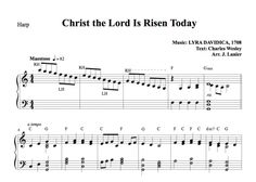 $1.50 Harp Music: Christ the Lord Is Risen Today for Harp