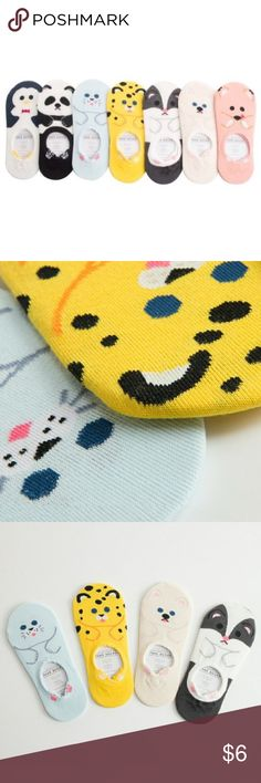 ✨Coming soon!✨Super cute animal socks! ✨Coming soon!✨ Absolutely adorable animal ankle socks! All styles pictures are available! ❤️ 75% cotton, 18% spandex, 6% polyester, 1% polyurethane. Fits women's shoe size 5-11. Accessories