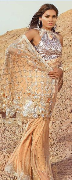 Check the best Pakistani saree designs for bridals. Watch a video on how to wear saree in different styles. Pakistani designers worked hard for latest sarees. Bridal Sari, Saree Wedding, Bridal Gowns, Formal Dresses For Weddings, Wedding Dresses, Latest Bridal Dresses, Indian Bridal Fashion, Asian Fashion, Latest Fashion