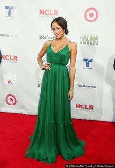 Dania Ramirez Dania Ramirez, Maxi Dresses, Formal Dresses, Green Dress, Gowns, Outfits, Clothes, Fashion, Green