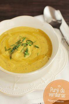 Puré de verduras, ¡sano y delicioso! Una cena rápida y sana, ideal para que los peques y toda la familia coma verduras. Un puré de verduras casero y riquísimo.