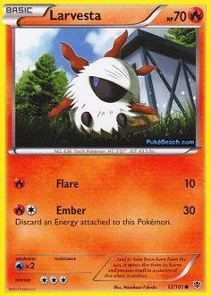 3 x 12/101 Larvesta Pokemon Weaknesses, Fire Pokemon, Pokemon Cards, Random Stuff, Solar, Black, Letters, Black People