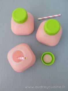 Yaourts à boire à la fraise, comme du Yop 19 yaourt