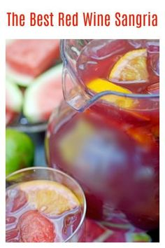 red wine sangria recipe from Platter Talk is inspired by a former neighbor and gourmet chef who grew up south of the border. Use your favorite summer stone fruit to mix with this red sangria and celebrate summer all year long! Easy Drink Recipes, Best Cocktail Recipes, Sangria Recipes, Drinks Alcohol Recipes, Smoothie Recipes, Smoothies, Dip Recipes, Red Wine Sangria, Wine Cocktails