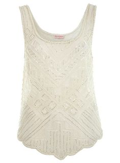 Cute cream colored embellished top from missselfridge.