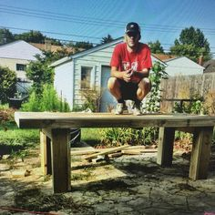Found an old pic.  It's my first big #woodworking project.  A giant #farmhousetable  It weighs like 500pds.