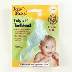 Baby Buddy Baby's 1st Toothbrush  Blue: http://www.amazon.com/Baby-Buddy-Babys-Toothbrush-Blue/dp/B001GIQVRG/?tag=httpbetteraff-20