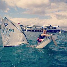 Going down. #sailing #optimist #summer