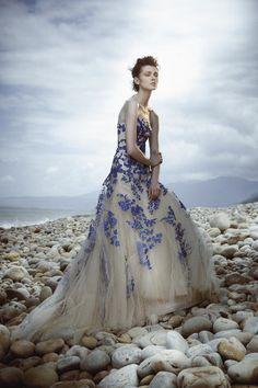 Wedding Magazine - Lookbook: coloured wedding dresses this dress is amazing