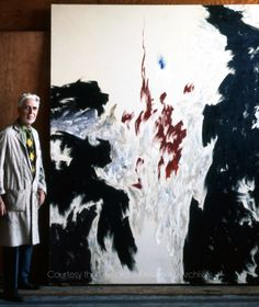 Clyfford Still with PH-998 at his Westminster studio, 1975. Photographed by Patricia Still. © City and County of Denver, courtesy the Clyfford Still Museum Archives.