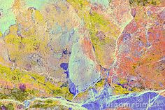 Abstract Marbling On Slate