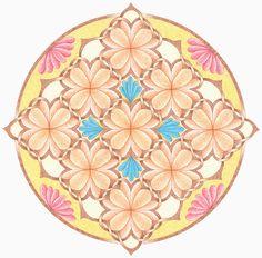 Bloemenvlecht mandala