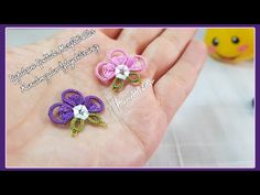 Creative Embroidery, Crochet Videos, Filet Crochet, Belly Button Rings, Tatting, Projects To Try, Stud Earrings, Make It Yourself, Youtube
