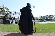 No, it's not a galaxy far, far away. It's Atlanta Braves spring training at ESPN Wide World of Sports Complex. Today's Braves-Mets game saw the first mash-up of Disney, Star Wars and Major League Baseball spring training at Walt Disney World Resort. & I was there!!!