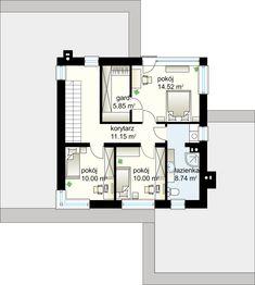 Projekt domu Kaskada N 159.41 m² - Domowe Klimaty Huge Kitchen, Roof Covering, Garage House, Modern House Plans, Home Design Plans, Civil Engineering, Cool Lighting, Detached House, Ground Floor