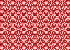青海波 和波 伝統文様 背景 赤