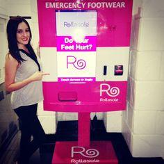 Rollasole shoe vending machine! Come visit our machines in Vegas! #vegas #technology #vendingmachine #shoevendingmachine