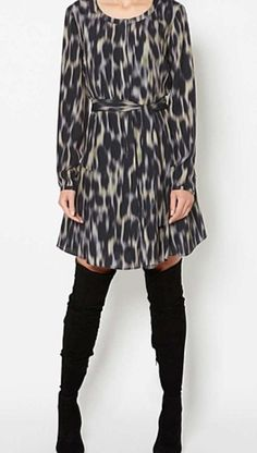 Image result for witchery ombre animal print dress