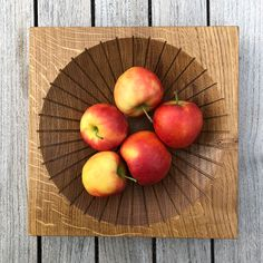 Design of a modern fruit bowl by studio a. Modern Fruit Bowl, Ash, Apple, Studio, Food, Design, Eten, Studios