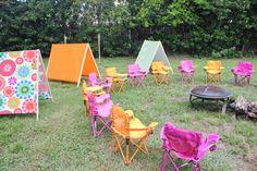 Camping Birthday Party Ideas | Backyard Camping Birthday Party ... on camping party ideas for teens, backyard party ideas for teens, camping checklist for teens,