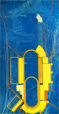 Plan for an international stadium by El Lissitzky. via polis: Imagining the Socialist City | Image credit: Art Into Life