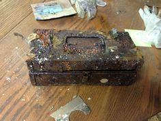 An old rusted time capsule Unexplained Mysteries, Time Capsule, Decorative Boxes, Miami, Live, Ice, I Found You, Crates, Projects
