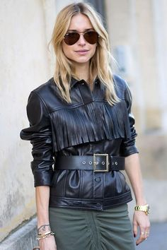 Shop The Street Style Look: Leather Fringe Jacket - Leather and Fringe Trends for Winter