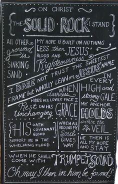 beautiful chalkboard art. this was my favorite hymn when I was little