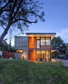 More than 41 unique Contemporary Exterior Design ideas which you can easily incorporate. Choose any of the listed Contemporary Exterior Design to get an exclusive look at your house. Sustainable Architecture, Residential Architecture, Contemporary Architecture, Interior Architecture, Contemporary Houses, Pavilion Architecture, Modern Exterior, Exterior Design, Cafe Exterior