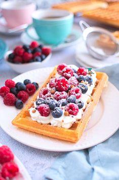 Waffles, Healthy Recipes, Healthy Food, Snacks, Breakfast, Body Art, Healthy Foods, Morning Coffee, Appetizers