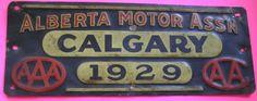 Alberta Motor Ass'n Calgary 1929 - AAA - AA