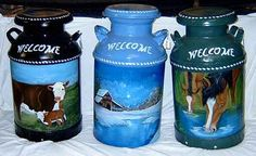 The Three Milk Cans Painting