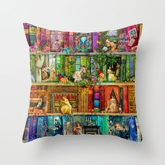 A Stitch In Time 2 Couch Throw Pillow by Aimee Stewart - Cover x with pillow insert - Indoor Pillow Throw Cushions, Couch Pillows, Designer Throw Pillows, Down Pillows, Accent Pillows, Fluffy Pillows, Pillow Design, Pillow Inserts, All The Colors