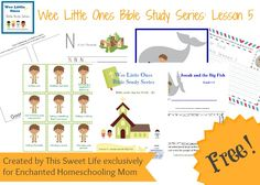 Wee Little Ones Bible Study Series Lesson 5 with FREE Printable - Enchanted Homeschooling Mom
