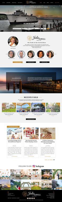 Custom Real Estate Website Design Real Estate Website Design, Port Jefferson, Us Real Estate, Rental Property, Custom Design, Commercial, Instagram