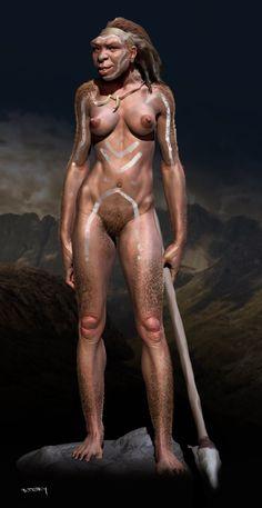 Art of Petry: Homo heidelbergensis (femele)
