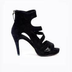 Dare Black Stiletto In Suede - Comfortable High Heels - Sargossa